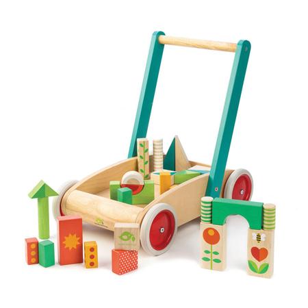 Slika Tender Leaf Toys® Aktivnostni voziček Baby Block Walker