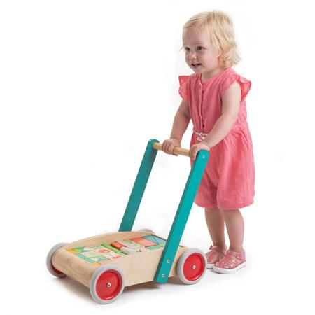 Tender Leaf Toys® Aktivnostni voziček Baby Block Walker