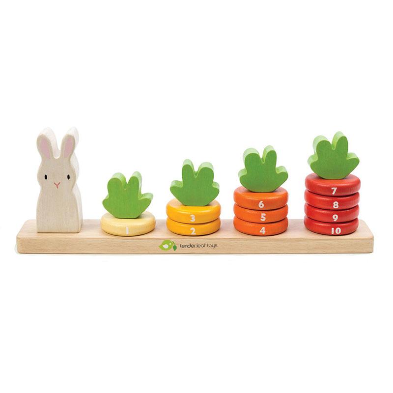 Tender Leaf Toys® Aktivnostna igrača Korenje Counting Carrots