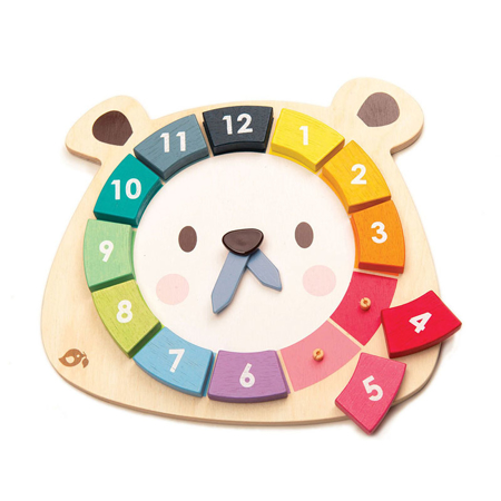Slika Tender Leaf Toys® Aktivnostna igrača Ura Bear Colors Clock