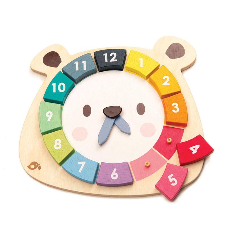Tender Leaf Toys® Aktivnostna igrača Ura Bear Colors Clock