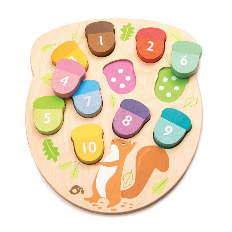 Tender Leaf Toys® Aktivnostna igrača Želodki How Many Acorns?