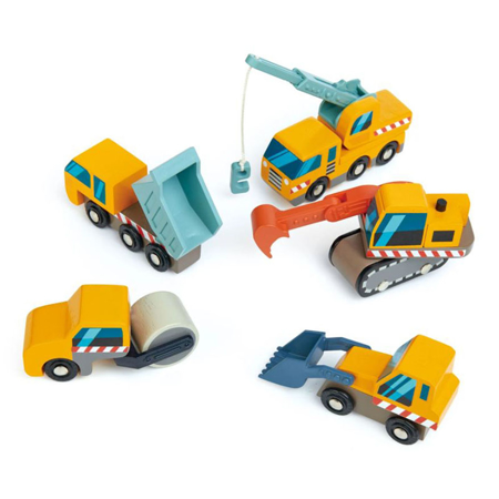Tender Leaf Toys® Gradbena vozila Construction Site