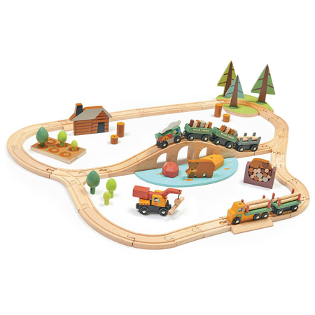 Slika Tender Leaf Toys® Železnica Wild Pines Train Set