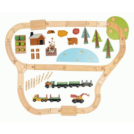 Tender Leaf Toys® Wild Pines Train Set