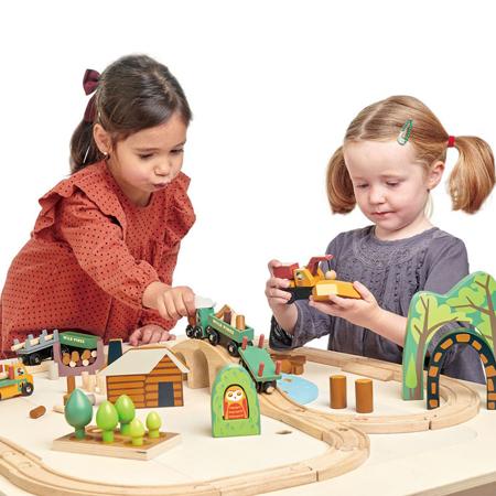 Tender Leaf Toys® Železnica Wild Pines Train Set