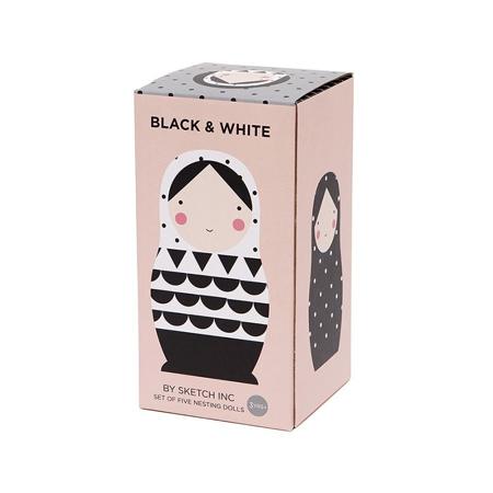 Petit Monkey® Babuške Black & White