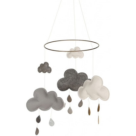 Slika Konges Sløjd® Vrtiljak za posteljico Grey/White