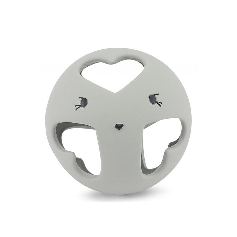 Konges Sløjd® Grizalo žoga iz naravnega kavčuka Storm Grey