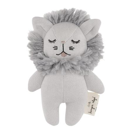 Konges Sløjd® Igračka z ropotuljico Mini Lion Grey Melange