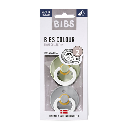 Bibs® Duda Night Sage & Cloud 2 (6-18m)
