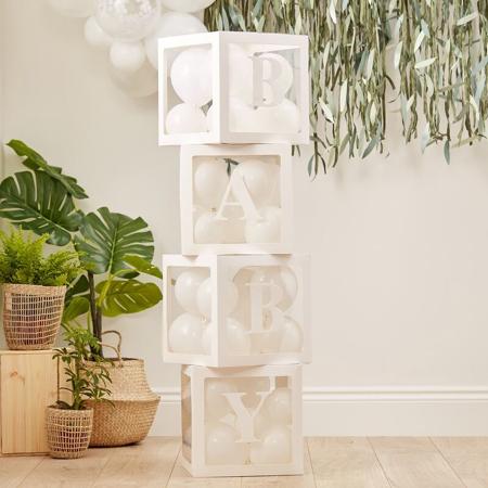 Slika Ginger Ray® Dekorativne prozorne škatle z baloni Baby