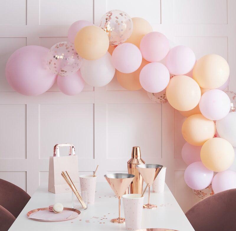 Ginger Ray® Lok iz balonov Mat Peach and Pink