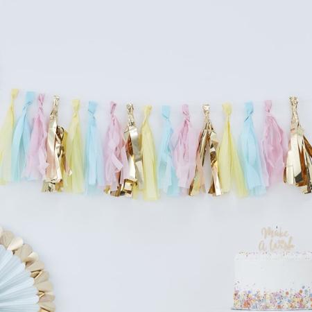 Slika Ginger Ray® Pom Pom Gerlanda Pastel & Gold
