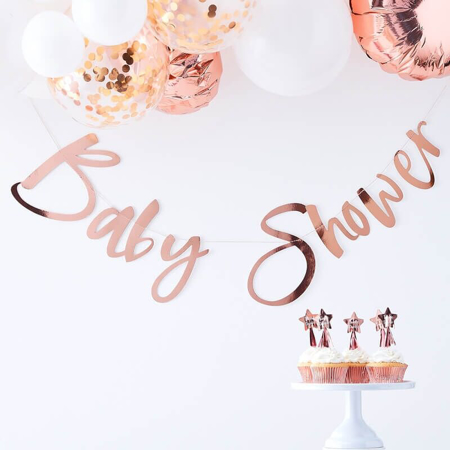 Slika Ginger Ray® Viseči napis Rose Gold Baby Shower