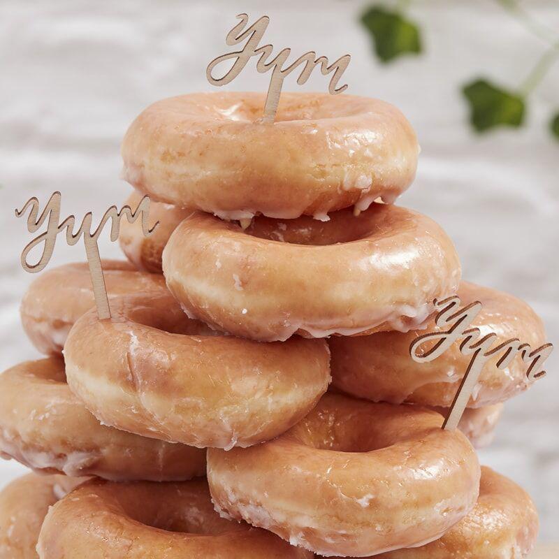 Ginger Ray® Leseni okraski za slaščice Yum 6 kosov