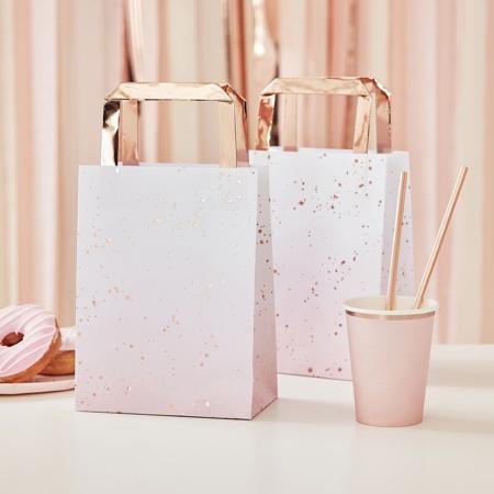 Slika Ginger Ray® Darilne vrečke Pink Ombre Watercolour 5 kosov