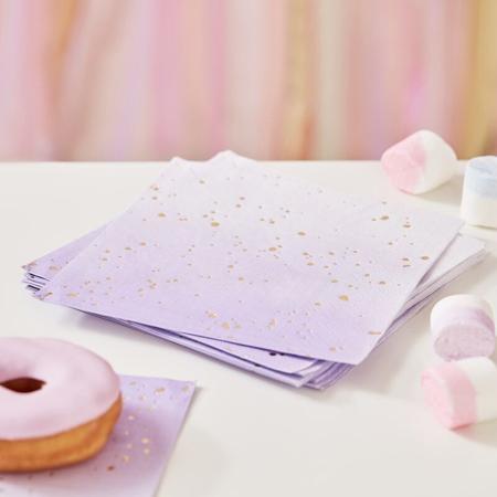 Slika Ginger Ray® Papirnate serviete Lilac Ombre 16 kosov