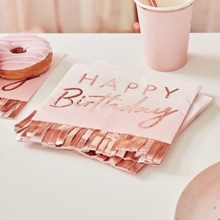 Slika Ginger Ray® Papirnate serviete Rose Gold Ombre 16 kosov