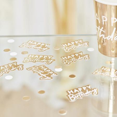 Slika Ginger Ray® Namizni okrasni konfeti Gold Happy Birthday