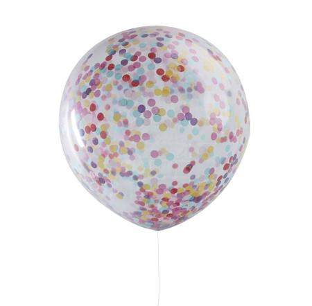 Slika Ginger Ray® Veliki baloni s konfeti Multicoloured 3 kosi