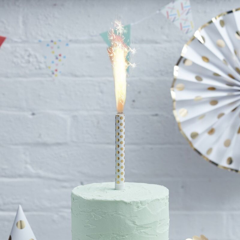 Ginger Ray® Fontana za torto Gold Polka Dot 3 kosi