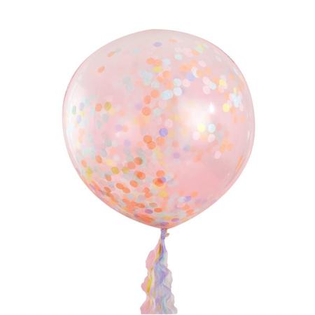 Slika Ginger Ray® Veliki baloni s konfeti Pastel Party 3 kosi