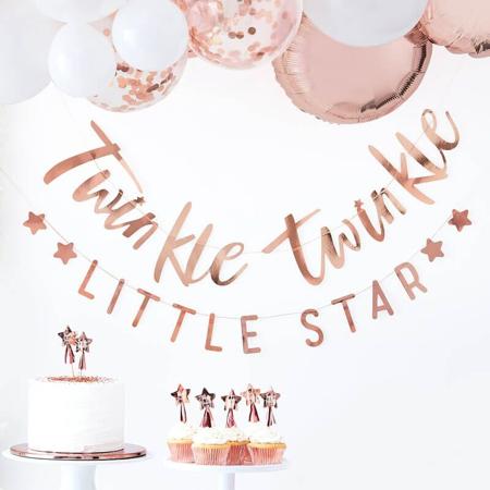 Slika Ginger Ray® Viseč napis Twinkle Twinkle Rose Gold