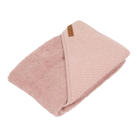 Little Dutch® Brisača s kapuco Pure Pink 75x75