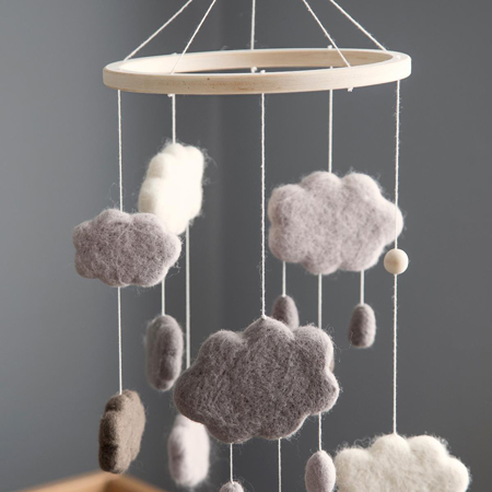 Sebra® Vrtiljak za posteljico Clouds Warm Grey