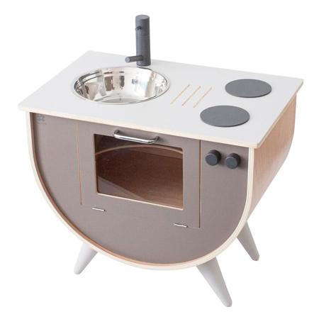 Slika Sebra® Lesena otroška kuhinja Warm Grey