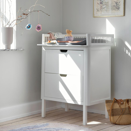 Slika Sebra® Previjalna komoda s predali Classic White