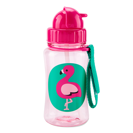 Slika Skip Hop® Steklenička s slamico Flamingo