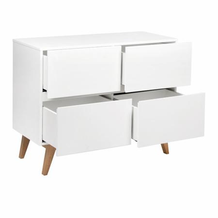 Quax® Moderna komoda s predali Trendy White