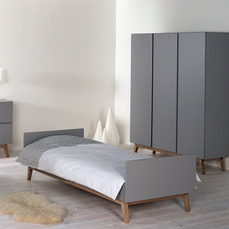 Quax® Otroška postelja Trendy 200x90 Griffin Grey