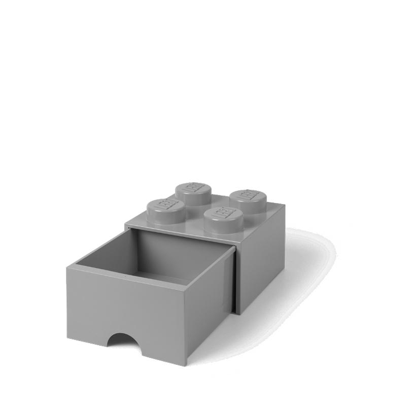 Lego® Škatla za shranjevanje s predali 4 Medium Stone Grey