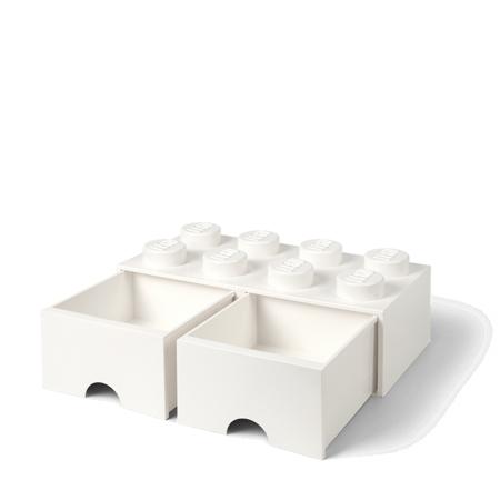Slika Lego® Škatla za shranjevanje s predali 8 White