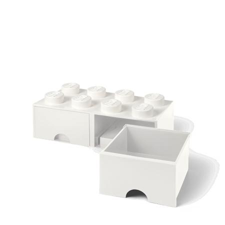 Lego® Škatla za shranjevanje s predali 8 White