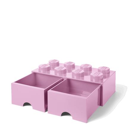 Lego® Škatla za shranjevanje s predali 8 Light Purple