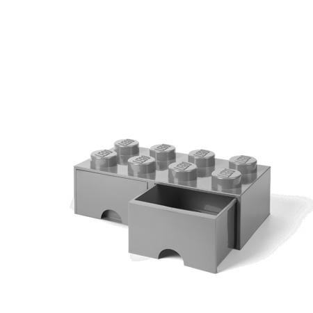 Lego® Škatla za shranjevanje s predali 8 Medium Stone Grey