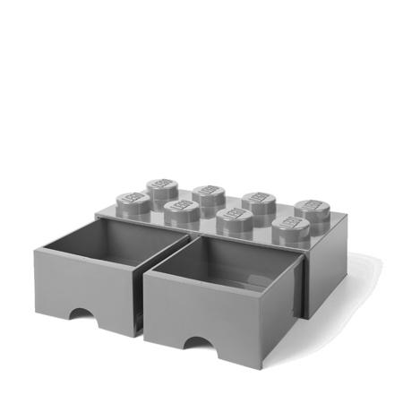 Slika Lego® Škatla za shranjevanje s predali 8 Medium Stone Grey