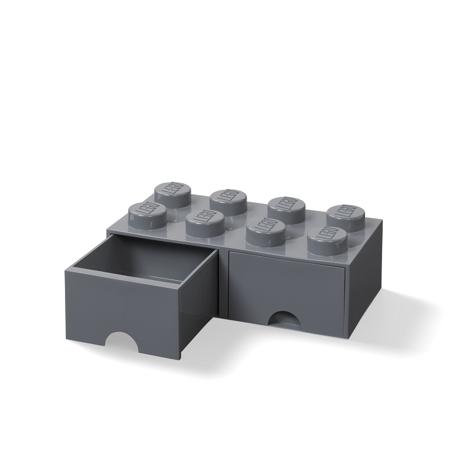 Lego® Škatla za shranjevanje s predali 8 Dark Grey