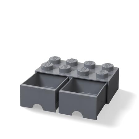Slika Lego® Škatla za shranjevanje s predali 8 Dark Grey