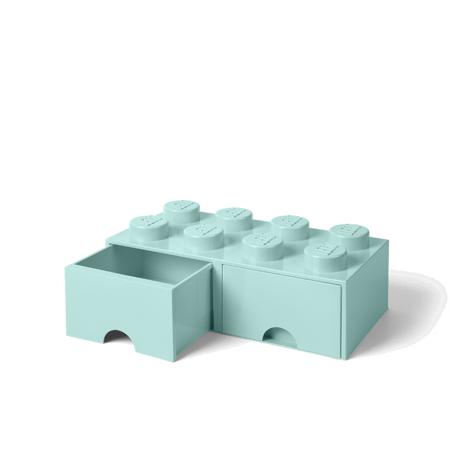 Slika Lego® Škatla za shranjevanje s predali 8 Aqua