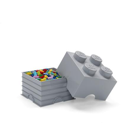 Slika Lego® Škatla za shranjevanje 4 Medium Stone Grey