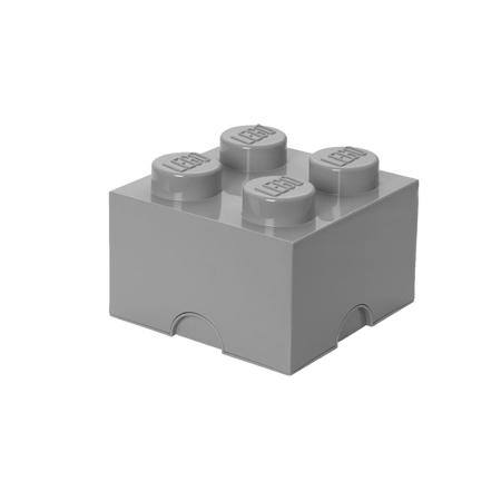 Lego® Škatla za shranjevanje 4 Medium Stone Grey