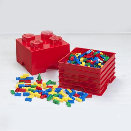 Lego® Škatla za shranjevanje s predali 4 Aqua