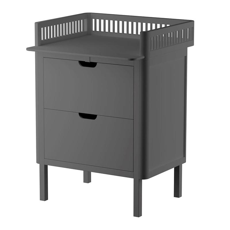 Sebra® Previjalna komoda s predali Classic Grey