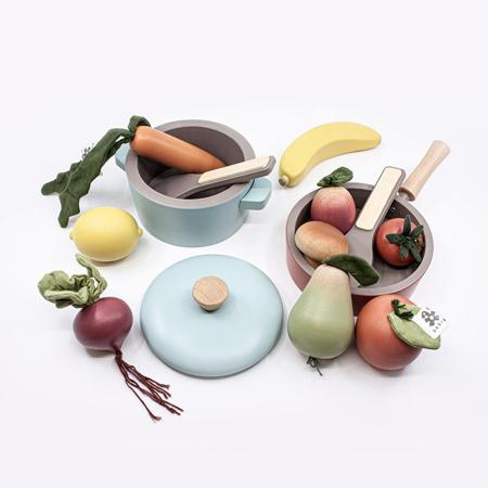 Slika Sebra® Leseni set za kuhanje Warm Grey