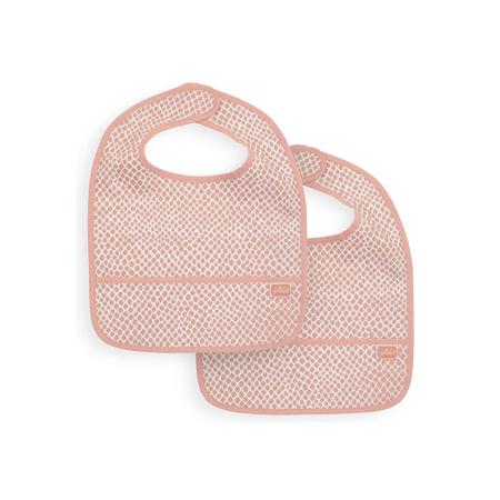 Slika Jollein® Nepremočljivi slinček Snake Pale Pink 2 kosa